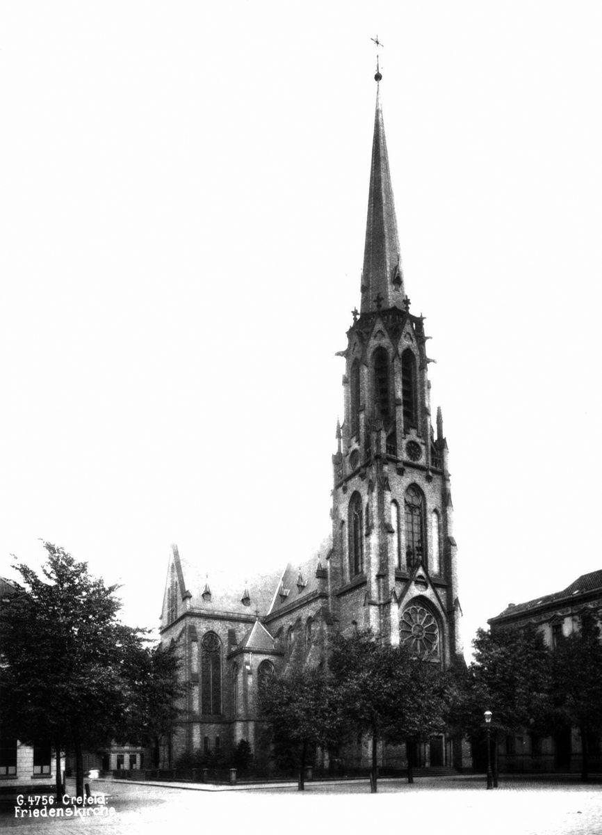Friedenskirche Krefeld um 1900